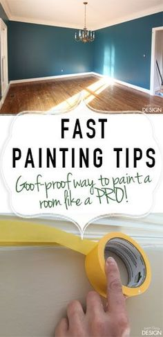 The goof-proof guide to painting a room fast. How to paint a room the easy way!