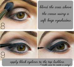 Makeup Tips, Beauty Reviews, Tutorials | Miss Natty's Beauty Diary Blog: Step by Step Eyeshadow Tutorial with Dramatic Black Liner and a Darkened Crease.