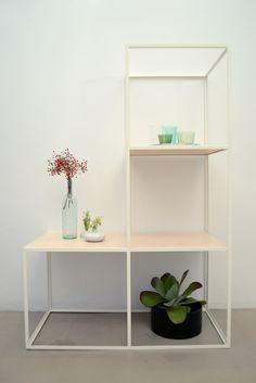 Beautifully designed shelf made of steel and plywood #steel#wood#shelf