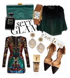 """""""Because you can be sexy and glamorous at the same time for the holidays max"""" by roosjem ❤ liked on Polyvore featuring SET, Chanel, Balmain, Miguel Ases, Yves Saint Laurent, Graham & Brown, polyvoreeditorial, polyvorecontest, polyvorefashion and goglam"""