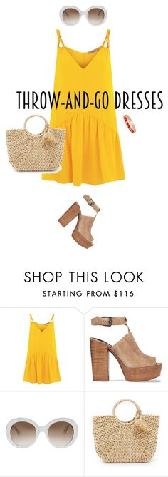 """""""Easy Peasy: Throw-and-Go Dresses"""" by fashionkookoo ❤ liked on Polyvore featuring Lazul, Rebecca Minkoff, Gucci, Hat Attack, BERRICLE and easypeasy"""