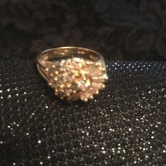 Diamond ring; 14K gold; 1.25 carat Purchased this for myself as a celebration for a promotion early in my career. Only worn on special occasions and haven't worn it in several years. Exceptional-looks brand new. Jewelry Rings