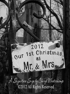 OUR FIRST CHRISTMAS as Mr and Mrs Ornament by MyPrimitiveBoutique, $22.00