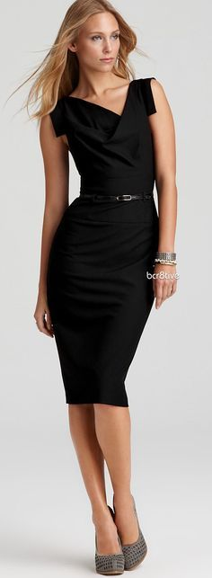 @roressclothes clothing ideas #women fashion Jackie O Belted Sheath Dress