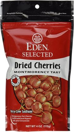 Eden Selected Dried Montmorency Cherries, 4-Ounce Pouches (Pack of 3) * Tried it! Love it! Click the image. : Fresh Groceries