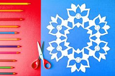 Easy-to-follow paper snowflake pattern with steps on how to fold & cut out a snowflake that looks like a reindeer! $1 PDF Download to print out at home and create a cute, one-of-kind paper snowflake. Perfect for arts & crafts, holiday decorations, homeschool art lessons, gifts, table decor, and more. #snowflake #papersnowflake #papersnowflakes #snowflakes #pattern #DIY #Christmas #xmas #snowflakepattern #papersnowflakepattern #pattern #template #poinsettia Paper Snowflake Template, Paper Snowflake Patterns, Paper Snowflakes, Print And Cut, Poinsettia, Art Lessons, Arts And Crafts, Templates, Table Decorations