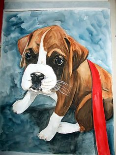DOG PAINTING WATERCOLOR