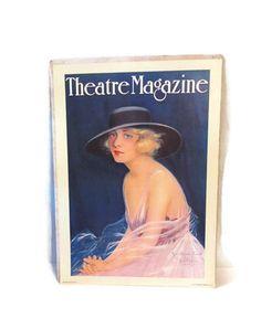 Vintage 1974 poster  Theatre magazine cover by wonderdiva on Etsy