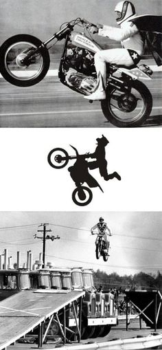 Evil Knievel ~ death defying stunts. I LOVE this guy.. talk about extreme.  I love WATCHING extreme sports.. but #thatsjustcraycray