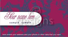 Digital Business Calling Card Cosmetic Template No 8