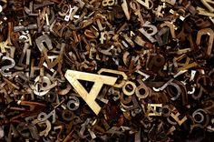 Rusty metal letters