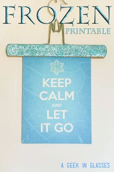 Free Frozen Printable - Perfect for a Frozen Birthday party or just for decoration!