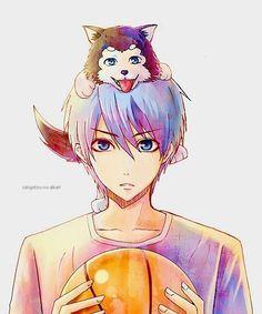 Character: Kuroko Tetsuya Anime: Kuroko no basket Anime Kawaii, Anime Chibi, Manga Anime, Anime Art, Kuroko No Basket, Basket Anime, Kurokos Basketball, Basketball Drawings, Basketball Couples