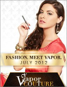 Become a Fan http://www.facebook.com/...  Vapor Couture is a unique line of electronic cigarettes, created just for women. This chic brand of electronic cigarette combines the robust technology of V2 Cigs with elegant designs and stylish accessories. An ultra-thin, jewel-tipped, rechargeable e-cig battery is accompanied by e-liquid flavor cartridges which come in four complementary shades. Vapor Couture is the only line of e-cigarette on the market designed exclusively for women.