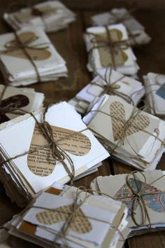 Rustic Wedding DIY invitations - Cute but effort and not very practical.