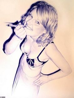 ballpoint pen art -  Juan Francisco Casas.