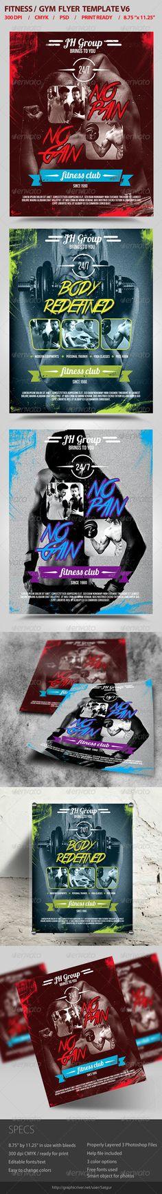 Fitness Flyer / Gym Flyer Template PSD V6 - Flyers Print Templates