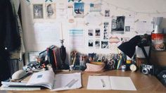 "justagirltryingtostudy: "" 2.08 / camping last week was great but means I haven't been active in a while u.u here is a pic of my freshly reorganised desk ready for hours of crazy revision next year I'm sure! Started off my summer work by catching up..."