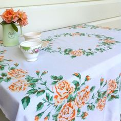 Create beautiful experiences with friends; add a cake-stand laden with tiny cakes and club sandwiches to this vintage tablecloth and you've got a memorable afternoon tea. $15.00 Comfort And Joy, Vintage Tablecloths, Dish Towels, Doilies, How To Memorize Things, Make It Yourself, Quilts, Afternoon Tea, Create