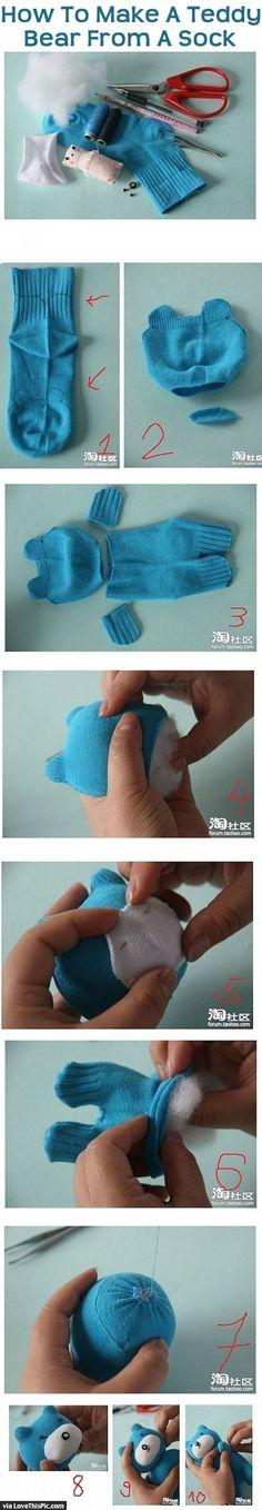 How To Make A Teddy Bear From A Sock Pictures, Photos, and Images for Facebook, Tumblr, Pinterest, and Twitter