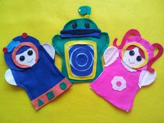 Team Umizoomi felt hand puppets. I can totally make these myself!