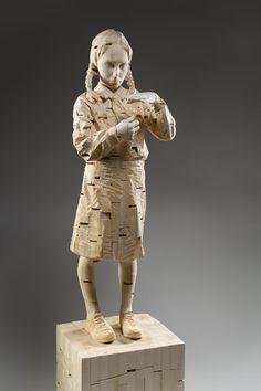 Gehard Demetz - Contemporary Artist - Wood Sculpture - 2006 - I heal you. ✖️More Pins Like This One At FOSTERGINGER @ Pinterest✖️