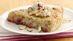 Fork into a sweet brunch tart with flaky pastry, tart red cherries and an almond, sweet cream filling.