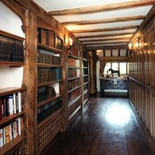Tudor arched hallway Library. this is a NEW BUILD by Stuart Interiors, London. I am in heaven.
