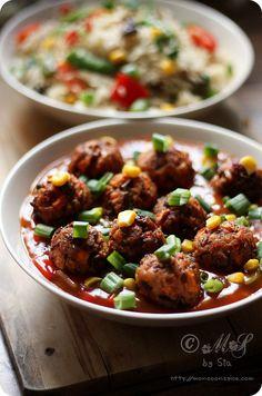 Vegetable Manchurian Recipe  - Vegan Indian Meatballs
