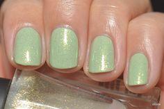 Spaz & Squee: CND Jade Sparkle layered over Illamasqua Milf