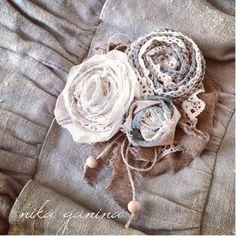 Knit&Sew / Связано&Сшито: Текстильная многослойная брошь. Отчет.