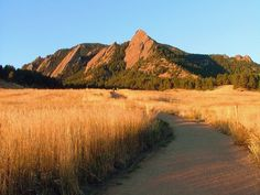 Chautauqua Park Trail, Flatirons, Boulder, Colorado