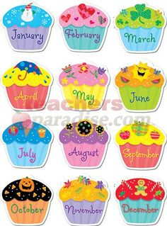 7 Best Images of Cupcake Birthday Printables For Classroom - Classroom Birthday Calendar, Printable Classroom Birthday Chart and Free Printable Birthday Chart Cupcake Birthday Chart For Preschool, Birthday Graph, Birthday Chart Classroom, Happy Birthday Tag, Birthday Bulletin Boards, Birthday Wall, Birthday Charts, Free Preschool, Birthday Board