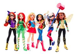 Dolls unveiled at New York Comic Con depict Wonder Woman, Supergirl, Bumblebee, Batgirl, Harley Quinn and Poison Ivy. Dc Superhero Girls Dolls, Female Superhero, Superhero Party, Batgirl, Super Hero High, Dc Super Hero Girls, Super Hero Women, Dc Super Heroes, Disney Cars