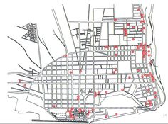 Kaart Maputo met architectuur van o. Maputo, Site Plans, How To Plan, Architecture, Mud, Jazz, Urban, Stuff Stuff, Architects