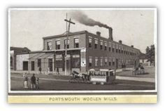 "On July 12, 1879, Portsmouth Woolen Mills opened at 4th and Chillicothe Streets. They advertised that they were ready to ""card, spin and weave"" and they paid ""the highest market price for wool"". Starting with 32 employees, by 1881 they increased to 45 workers and added 14 more knitting machines. It was noted that the company manufactured over 1,200 lbs. of yarn and over 2,500 pair of socks weekly. The plant closed in foreclosure in April, 1893."