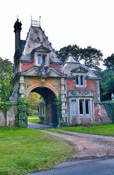 Ornate Gatehouse, Lyndhurst, New Forest, Hampshire, England.