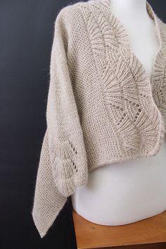 Nanook knit sweater pattern on Ravelry. Yarn HiKoo Kenzie in Pavlova. Knit by Carol McKenna.