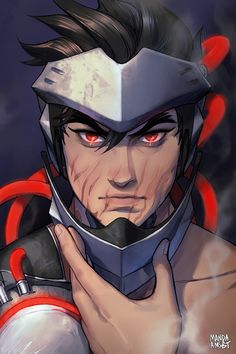 "Artist: Manda Schank Title: Genji - Blackwatch ""overwatch - fanart Very nice… Gengi Overwatch, Overwatch Drawings, Fight Me Meme, Genji And Hanzo, Character Art, Character Design, Genji Shimada, Overwatch Wallpapers, Fantasy Art"