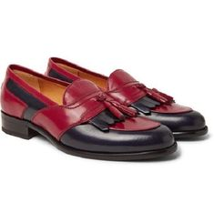 New Handmade Two-Tone Leather Tasselled Kiltie Loafers men style - Casual #menfashioncasual,