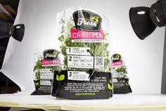Discover Fresh - BooM creatives | branding & design. #Koppert_Cress #brand_identity & #packaging #design #Discover_Fresh. #voedsel #Food #Fresh #Healthy #Crazy_pea