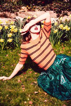 Lindsey Wixson by Ellen von Unwerth for Vogue Russia July 2015 - Miu Miu Fall 2015