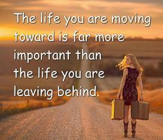 Leaving the past behind, move on