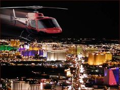 #VegasBucketList: Soar high above the Las Vegas strip on an evening helicopter tour for a hot date