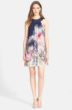 Women's Ted Baker London 'Marindi Ombre' Print Swing Dress