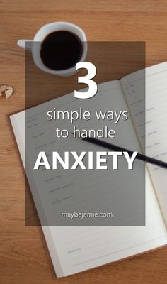 Stressing about work or school? Here are three simple ways to help ease the stress and anxiety that happens in life.