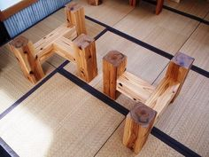 Woodworking Projects That Sell Refferal: 7204223798 Wood Table Bases, Diy Dining Table, Wooden Tables, Handmade Furniture, Rustic Furniture, Table Furniture, Wood Table Design, Coffee Table Design, Concrete Table