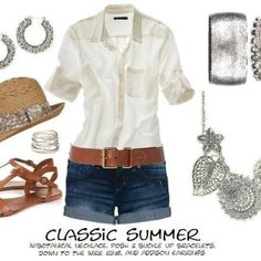 Classic summer look enhanced by premier designs jewelry