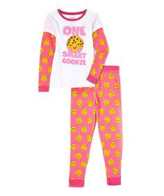 Look at this Shopkins Kooky Cookie Pajama Set on #zulily today!