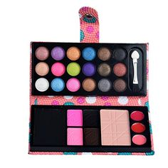 LandFox 26 Colors Eye Shadow Makeup Palette Cosmetic Eyeshadow Blush Lip Gloss Powder (Pink) -- Continue to the product at the image link. (This is an affiliate link) Eyeshadow Brush Set, Eyeshadow For Brown Eyes, Glitter Eyeshadow, Eyeshadow Makeup, Makeup Cosmetics, Skin Makeup, Makeup Set, Makeup Tools, Party Makeup